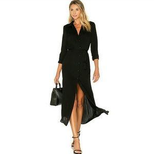 Fashion Bug Black Maxi Shirt Dress NWOT